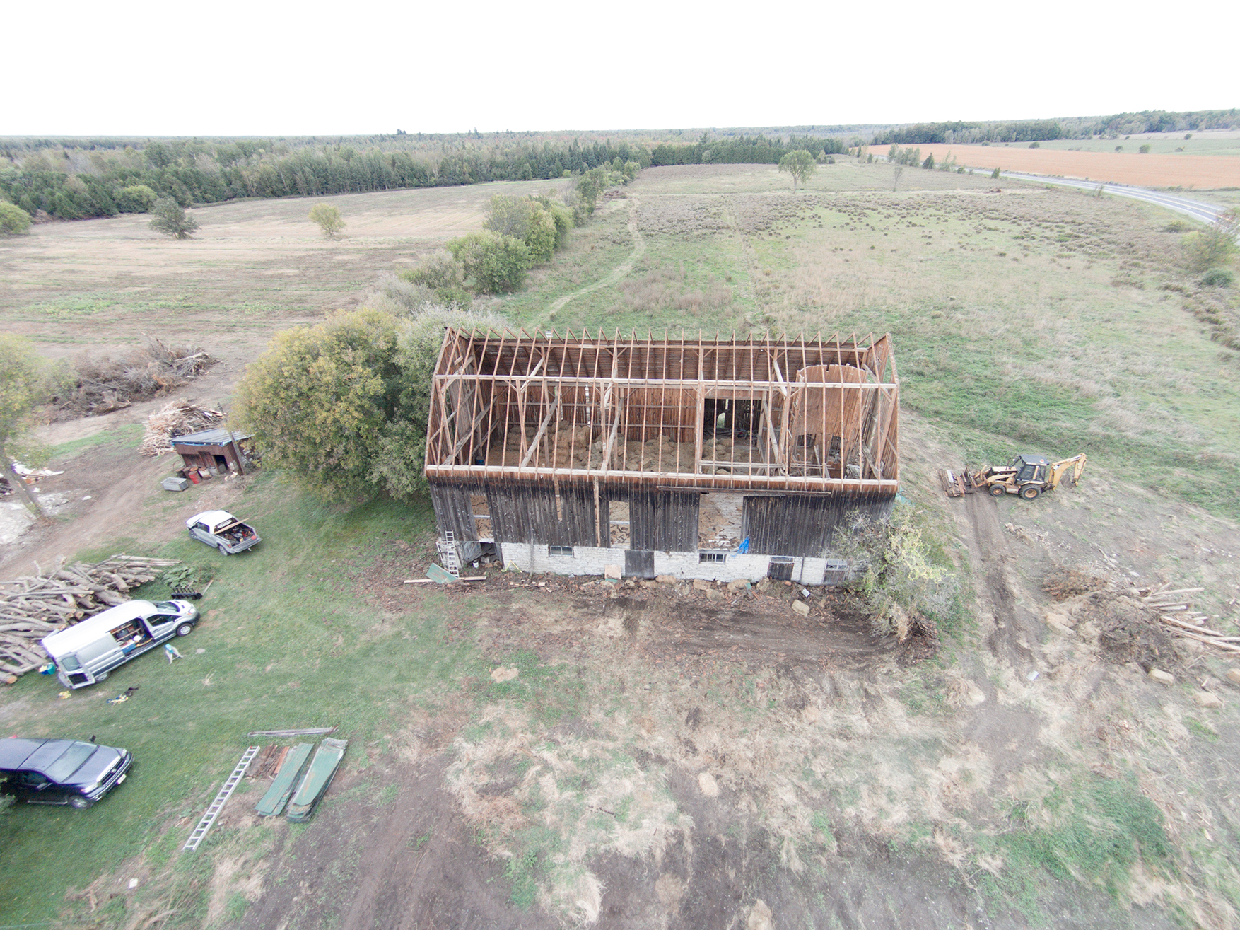 Aerial construction photography drone